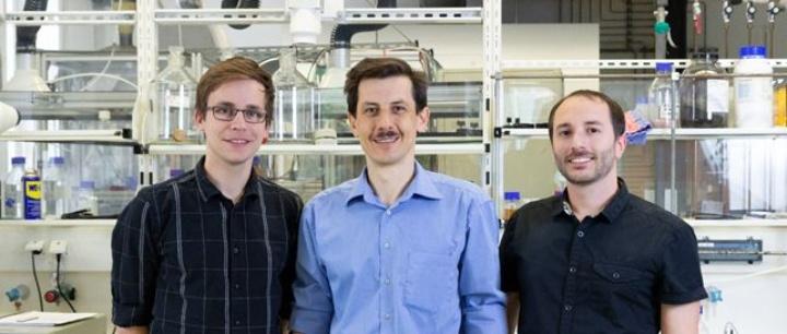 eXist-Gründer-Team: Linus Ruf, Andrej Grabowksi, Florian Drayer (von links nach rechts) (c) Prof-ED (TTI GmbH)