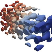 Bildung von Schaumporen bei der Fällung einer Polymerlösung (PES in NMP, Fällungsmittel: Wasser)